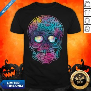 Watercolor Sugar Skull Day Of The Dead T-Shirt