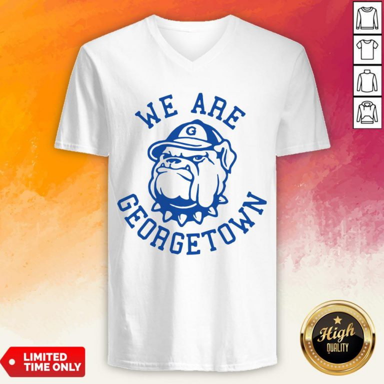 We Are Georgetown Hot White V-neck