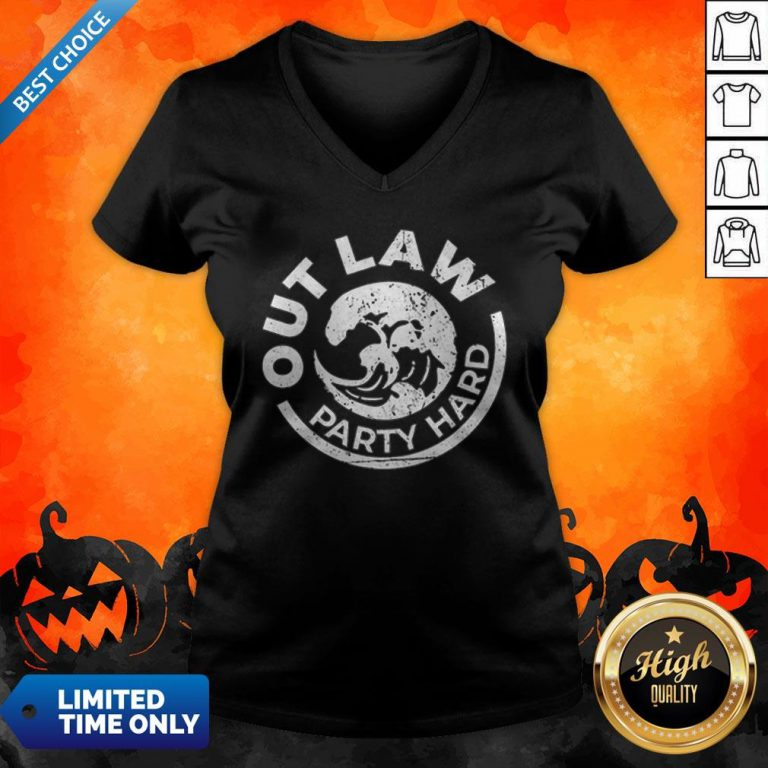 White Claw Halloween Party Hard V-neck