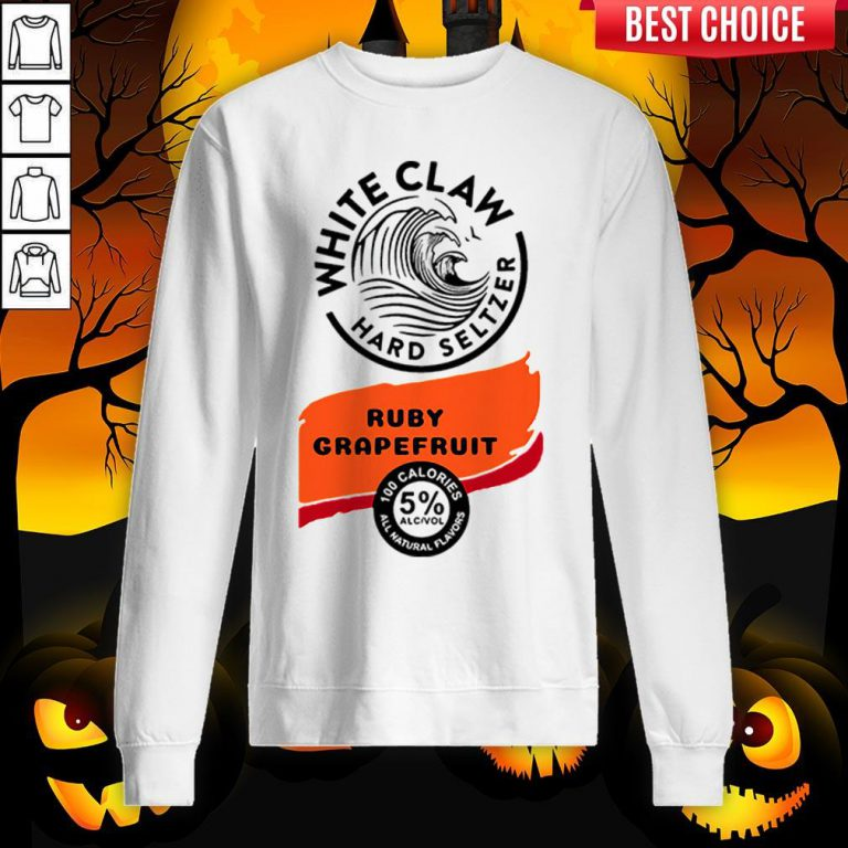 White Claw Hard Seltzer Ruby Grapefruit Halloween Costume Sweatshirt