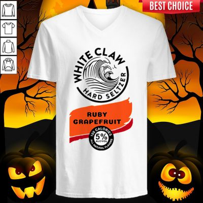 White Claw Hard Seltzer Ruby Grapefruit Halloween Costume V-neck
