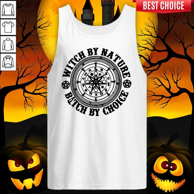 Witch By Nature Bitch By Choice Halloween Tank Top