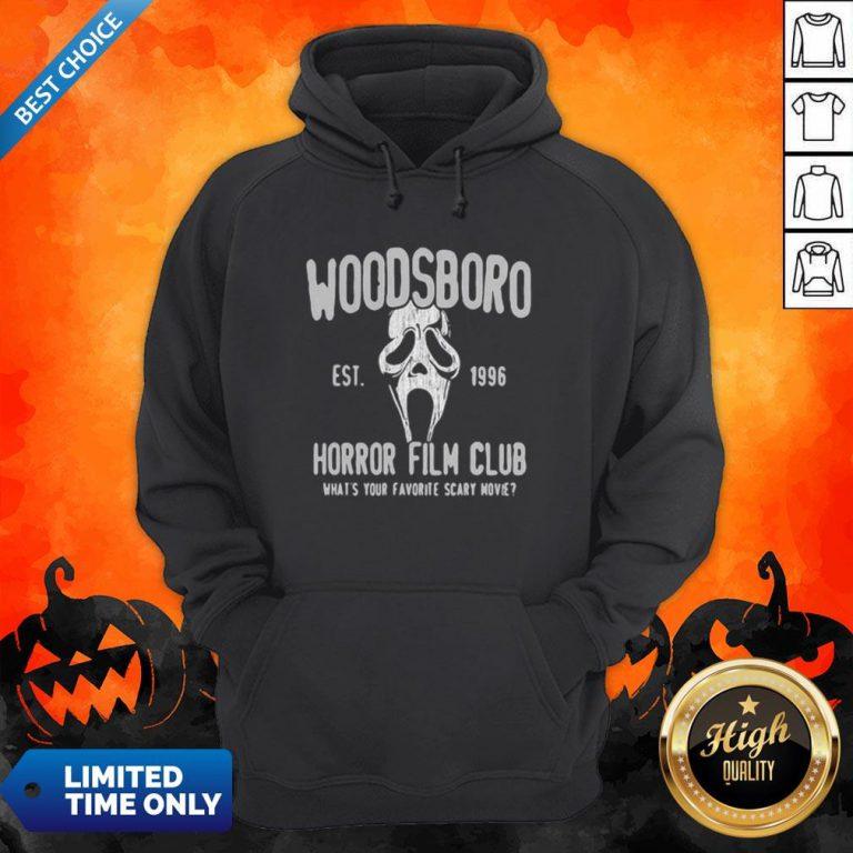 Woodsboro Est 1996 Horror Film Club Halloween Hoodie