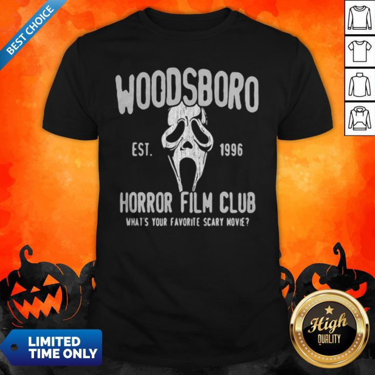 Woodsboro Est 1996 Horror Film Club Halloween Shirt