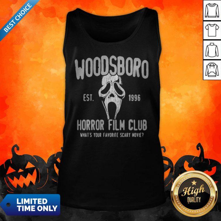 Woodsboro Est 1996 Horror Film Club Halloween Tank Top