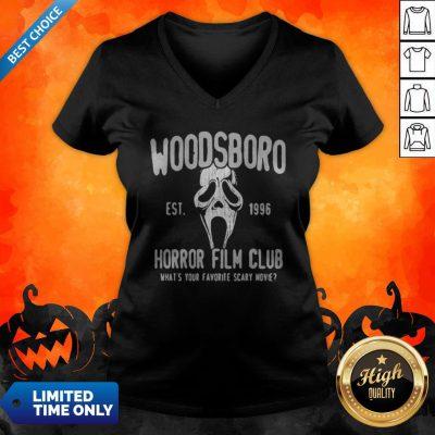 Woodsboro Est 1996 Horror Film Club Halloween V-neck