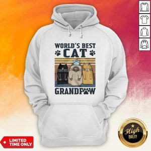 Worlds Best Cat Grandpaw Vintage Hoodie