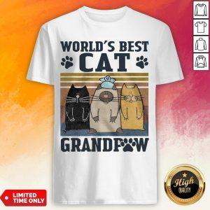 Worlds Best Cat Grandpaw Vintage Shirt