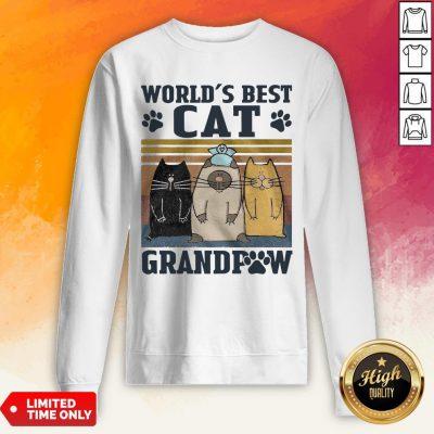 Worlds Best Cat Grandpaw Vintage Worlds Best Cat Grandpaw Vintage Sweatshirt