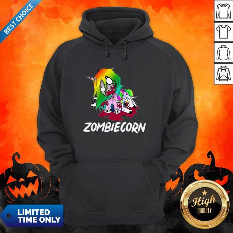 Zombiecorn Creepy Zombie Unicorn Halloween Hoodie