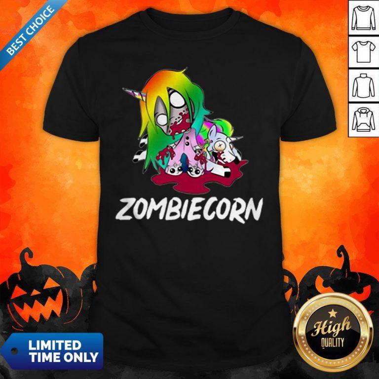 Zombiecorn Creepy Zombie Unicorn Halloween T-Shirt