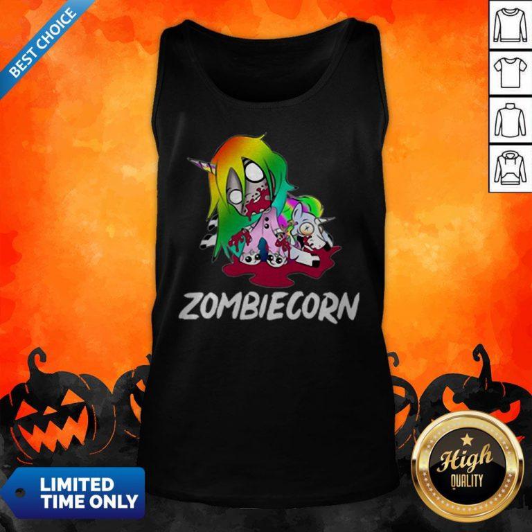 Zombiecorn Creepy Zombie Unicorn Halloween Tank Top