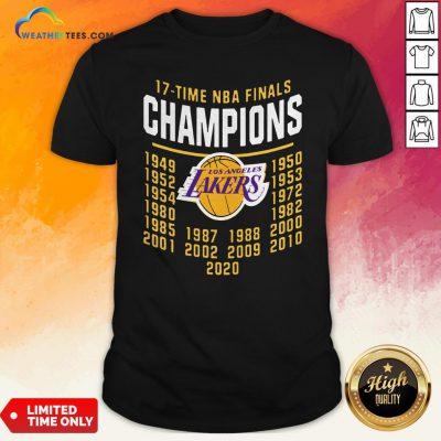 17 Time NBA Finals Champions Los Angeles Lakers Shirt