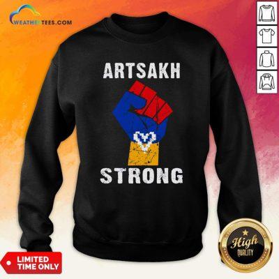 Artsakh Strong Artsakh Is Armenia – Armenian Flag Vintage Sweatshirt