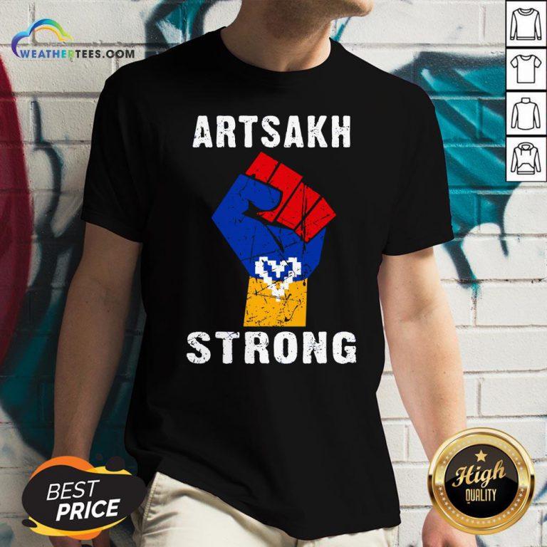 Artsakh Strong Artsakh Is Armenia – Armenian Flag Vintage V-neck