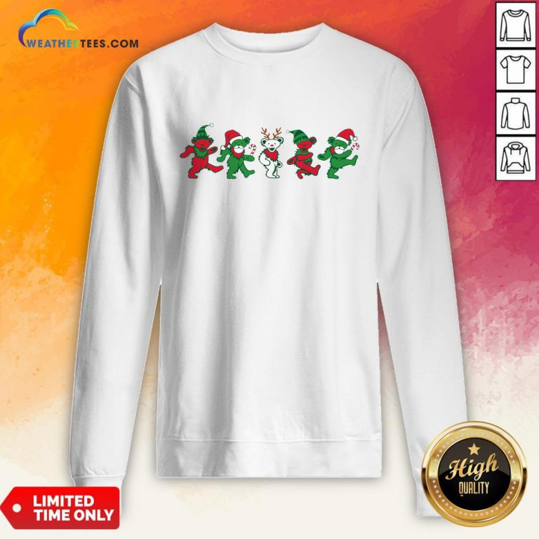 Boom Grateful Dead Bear Christmas Sweatshirt - Design By Weathertees.com
