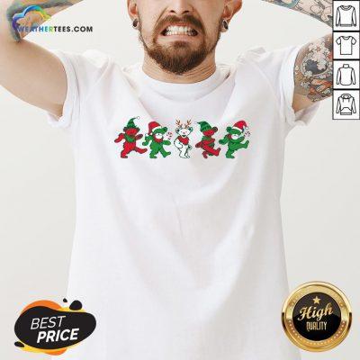 Boom Grateful Dead Bear Christmas V-neck - Design By Weathertees.com