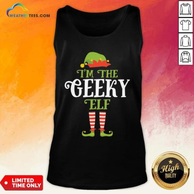 Couple I'm The Geeky Elf Christmas Tank Top - Design By Weathertees.com