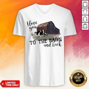 Cow I Love You To The Barn And Back V-neck