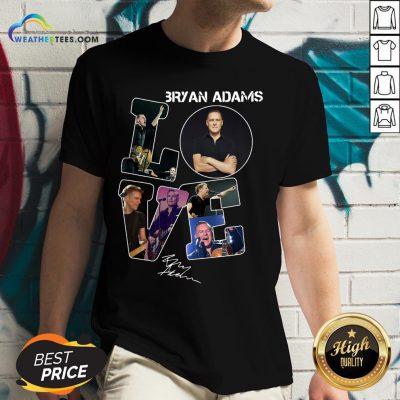 Do Love Bryan Adams Signature V-neck- Design By Weathertees.com
