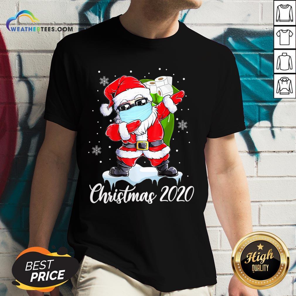 Do Santa Dabbing Christmas 2020 V-neck - Design By Weathertees.com