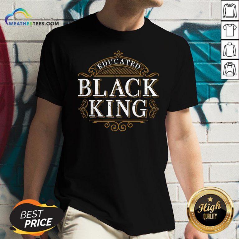 Educated Black King History Month Melanin V-neck