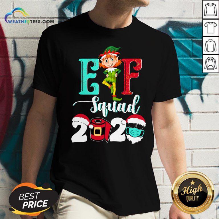 Elf Squad Christmas 2020 Family Matching Xmas Funny Gift V-neck
