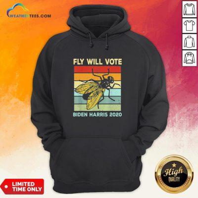 Fly Will Vote Biden Quote VP Debate Vintage 2020 Hoodie