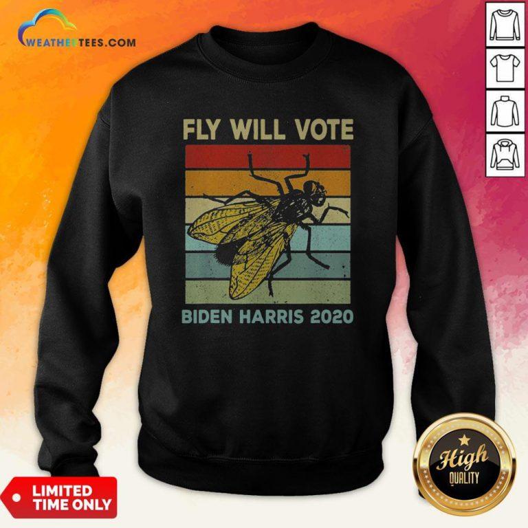 Fly Will Vote Biden Quote VP Debate Vintage 2020 Sweatshirt