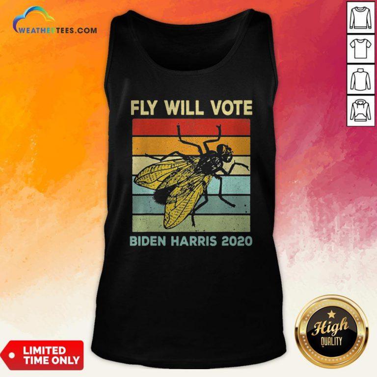 Fly Will Vote Biden Quote VP Debate Vintage 2020 Tank Top