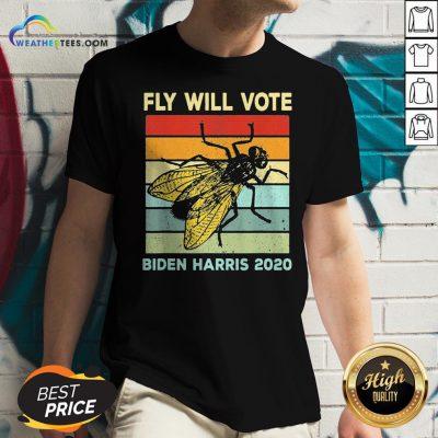 Fly Will Vote Biden Quote VP Debate Vintage 2020 V-neck