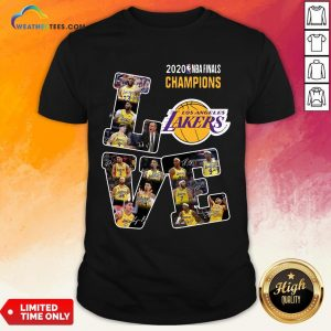 Funny Love Los Angeles Lakers 2020 Nba Finals Champions Signatures Shirt - Design By Weathertees.com
