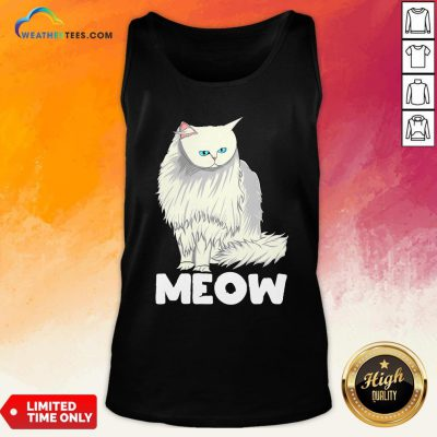 Funny Meow Cat Lady and Cats Kittens People Men Women Gift Tank Top