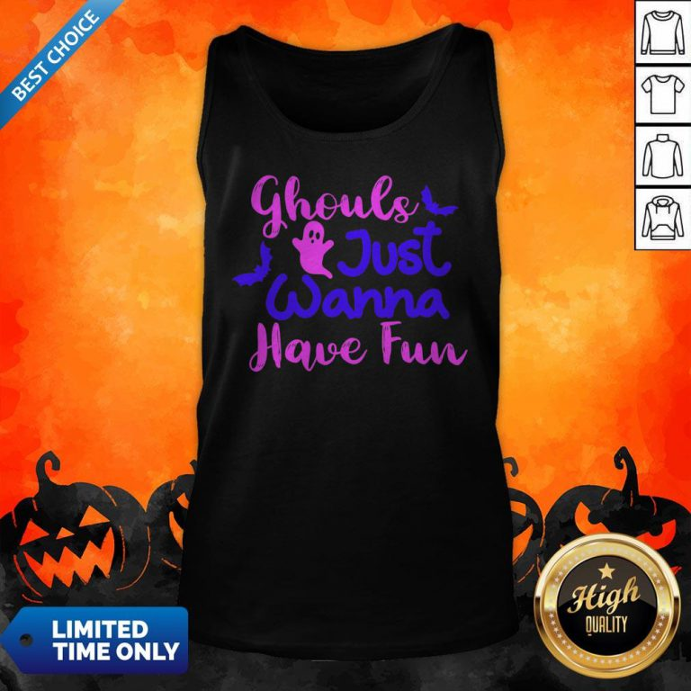 Ghouls Just Wanna Have Fun Halloween Day Tank Top