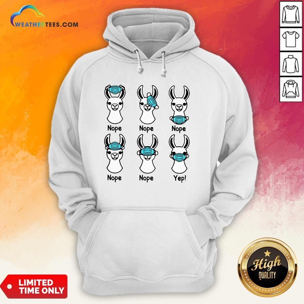 Give Nurse Life Llama Mask 2020 Nope Nope Yep Hoodie- Design By Weathertees.com