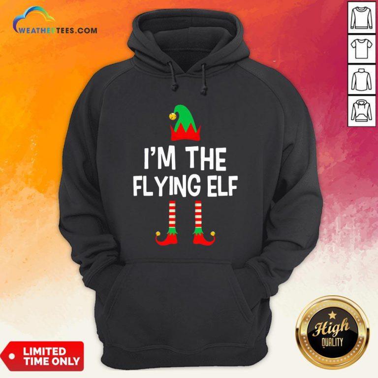 Gumer I'm The Flying Elf Christmas Hoodie - Design By Weathertees.com