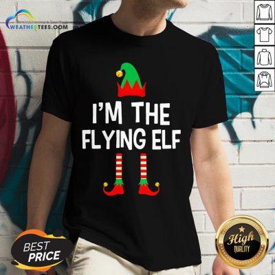 Gumer I'm The Flying Elf Christmas V-neck - Design By Weathertees.com