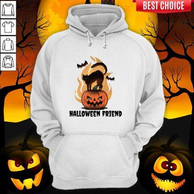 Halloween Friends Pumpkin Black Cat Bats Hoodie