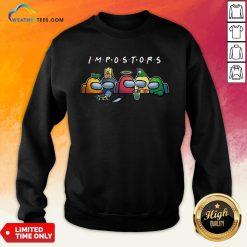 Happy Halloween Among Us Impostors Funny Sweatshirt- Design By Weathertees.com