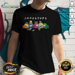 Happy Halloween Among Us Impostors Funny V-neck - Design By Weathertees.com