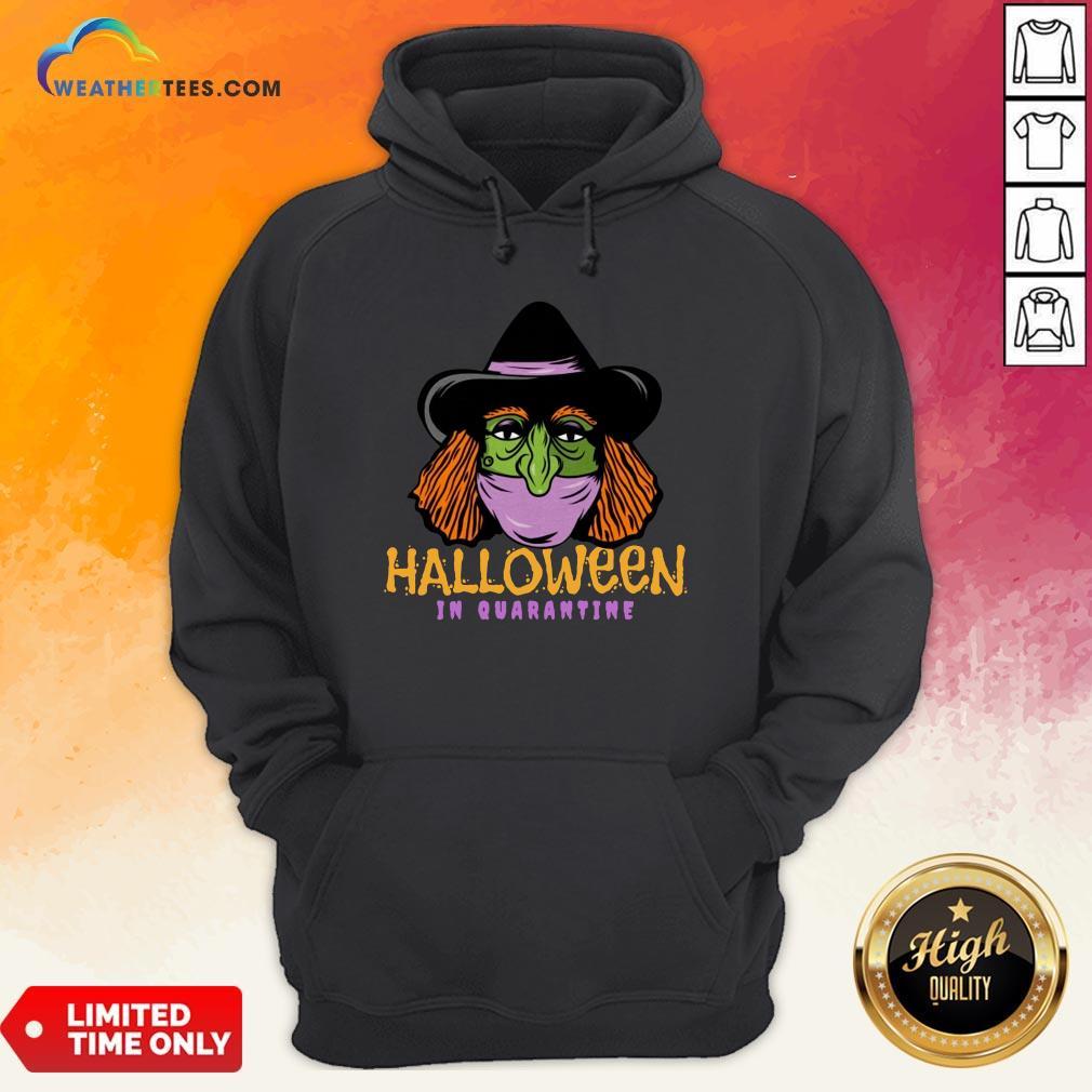 Happy Halloween In Quarantine Hoodie - Design By Weathertees.com