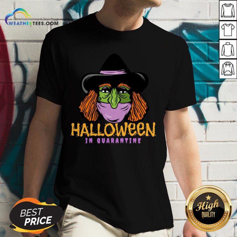 Happy Halloween In Quarantine V-neck - Design By Weathertees.com