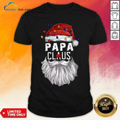 Header Papa Claus Merry Christmas Shirt - Design By Weathertees.com