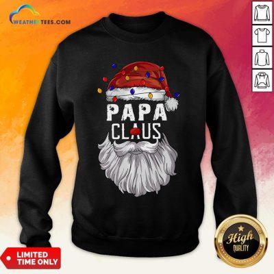 Header Papa Claus Merry Christmas Sweatshirt - Design By Weathertees.com