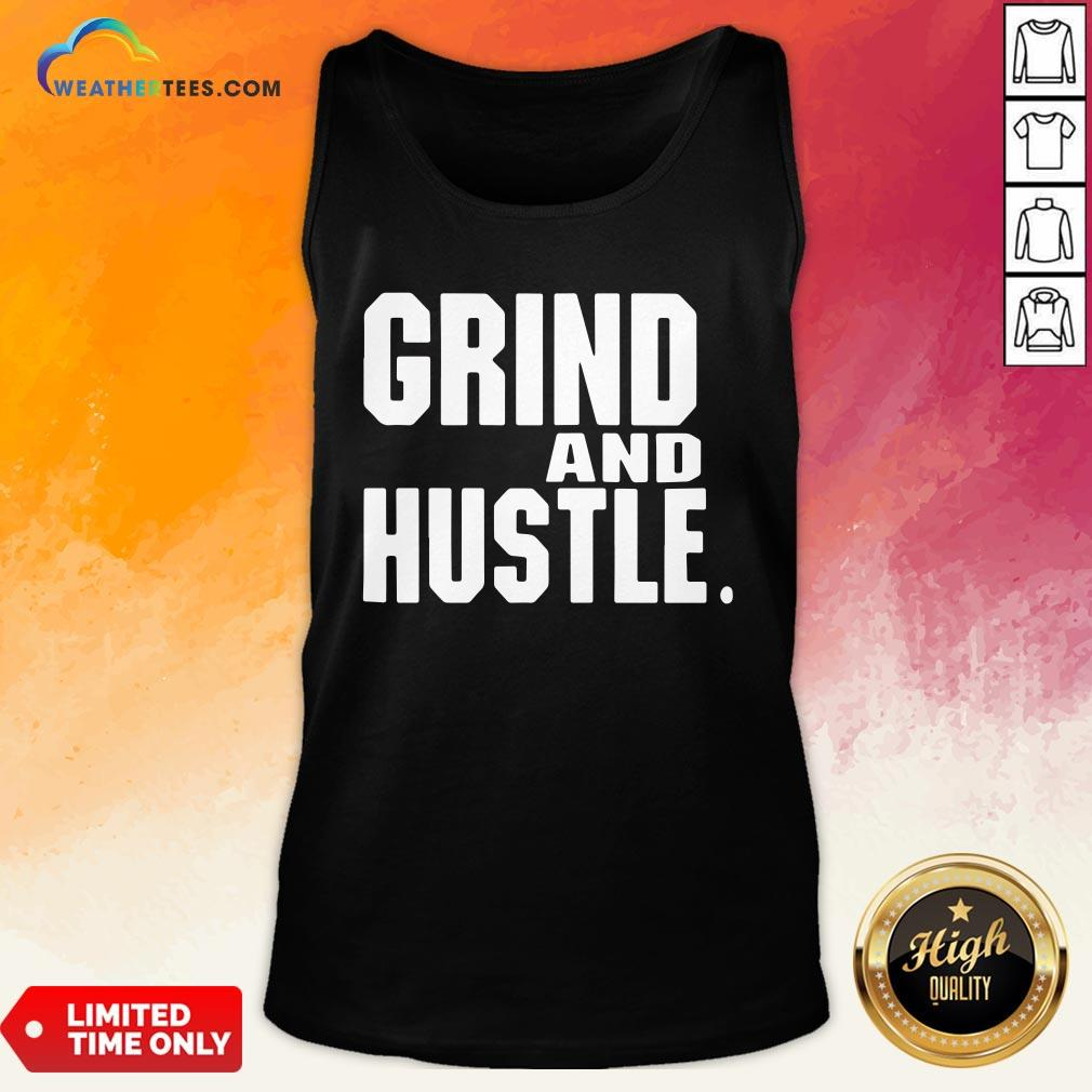 Heart Grind And Hustle Tank Top - Design By Weathertees.com