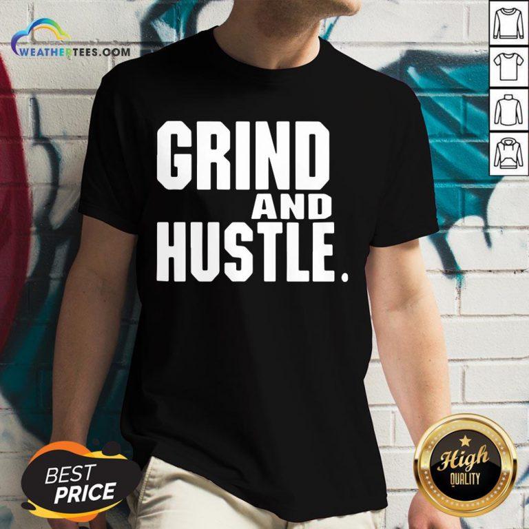 Heart Grind And Hustle V-neck- Design By Weathertees.com