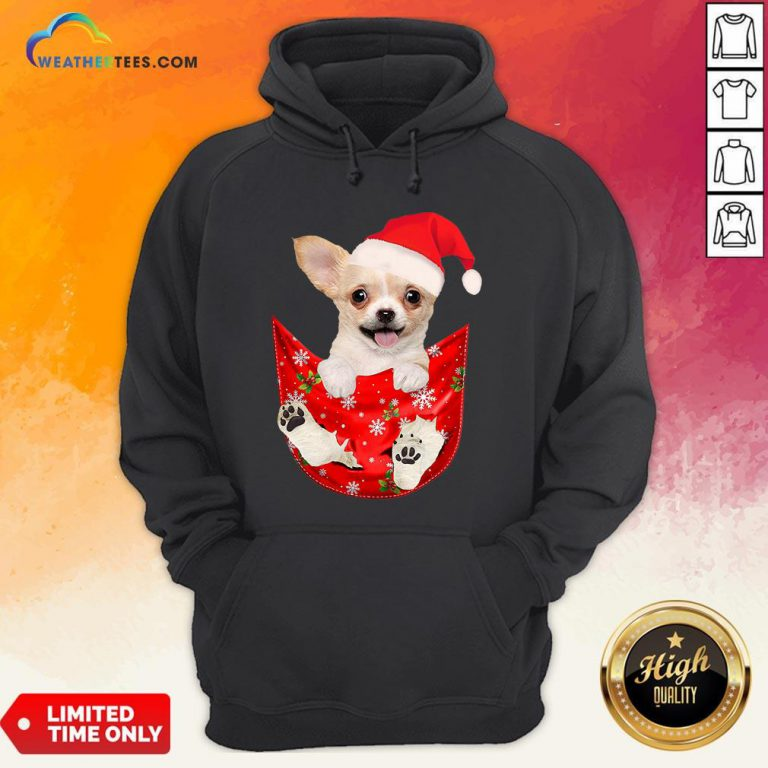 Hi Santa Chihuahua Dog Merry Christmas Hoodie- Design By Weathertees.com