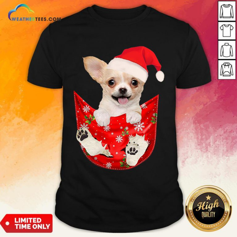 Hi Santa Chihuahua Dog Merry Christmas Shirt - Design By Weathertees.com