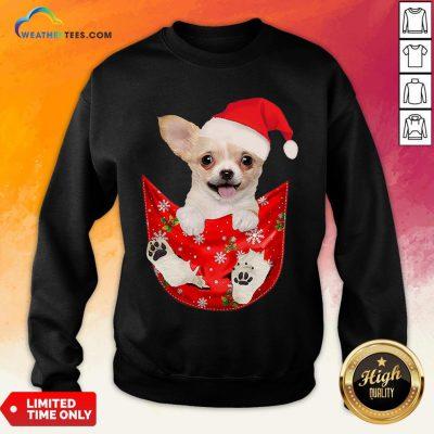 Hi Santa Chihuahua Dog Merry Christmas Sweatshirt - Design By Weathertees.com