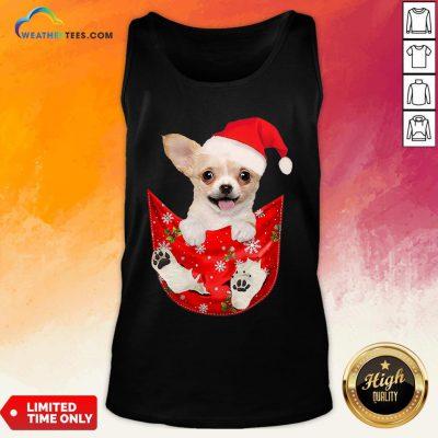 Hi Santa Chihuahua Dog Merry Christmas Tank Top- Design By Weathertees.com